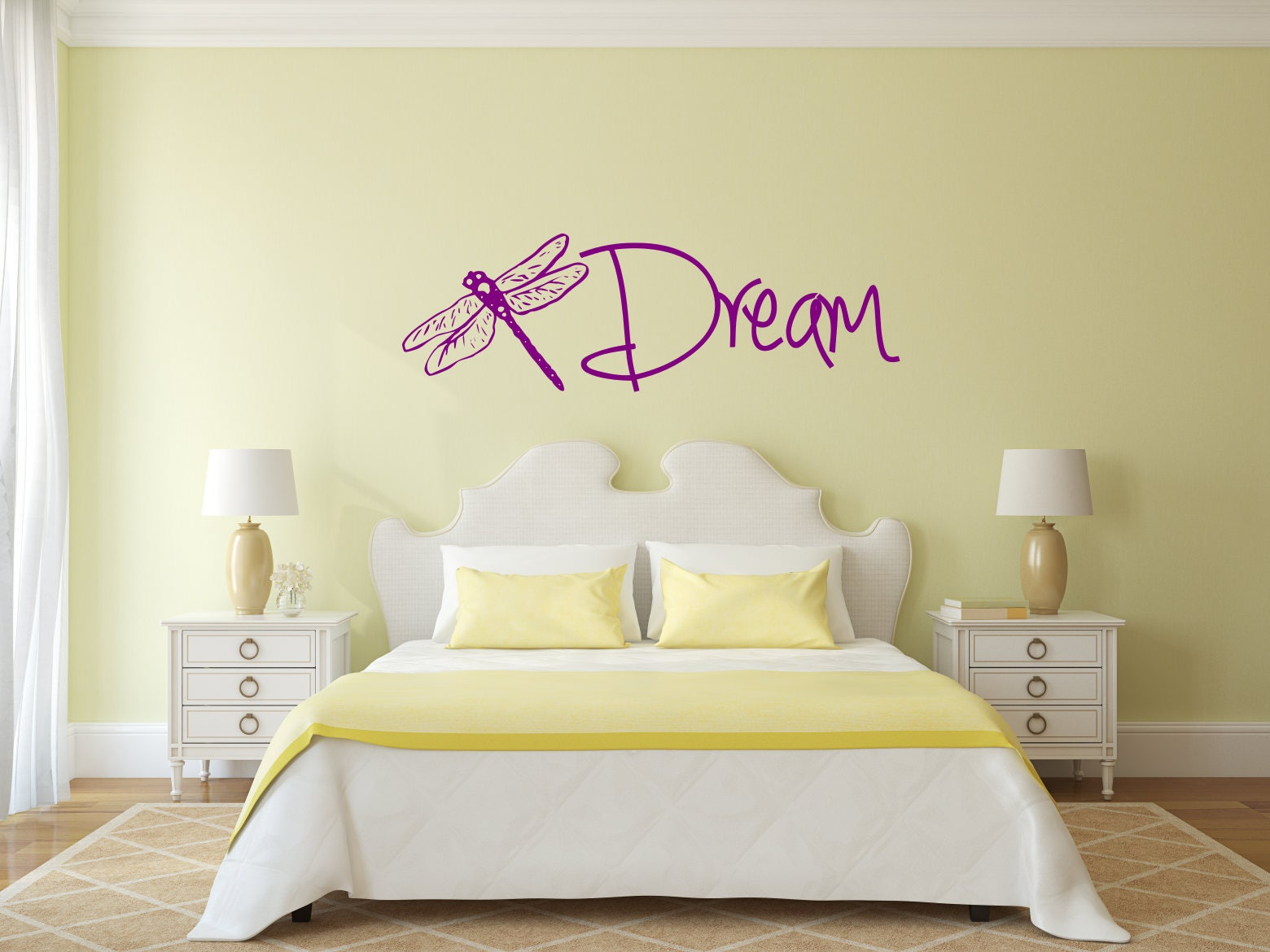 Dragonfly dream decal, dragonfly decal, dream decal, dragonfly wall ...