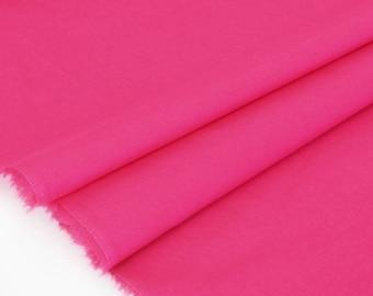 50cm x raspberry fluid cotton batiste fabric