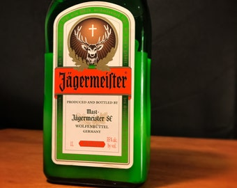 Recycled Jagermeister Bottle Candle