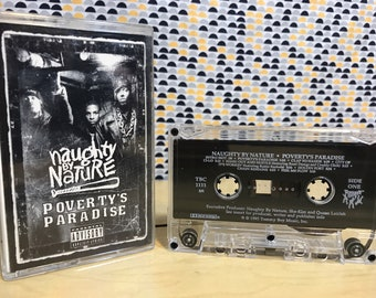 Naughty By Nature - Poverty's Paradise  - Cassette tape - 1995 Tommy Boy Records - Canadian Release