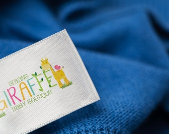 Custom Clothing Labels Sew on - Create 1000 Personalized Custom Clothing Tags Full Color Labels Washable with Your Logo in Multicolor