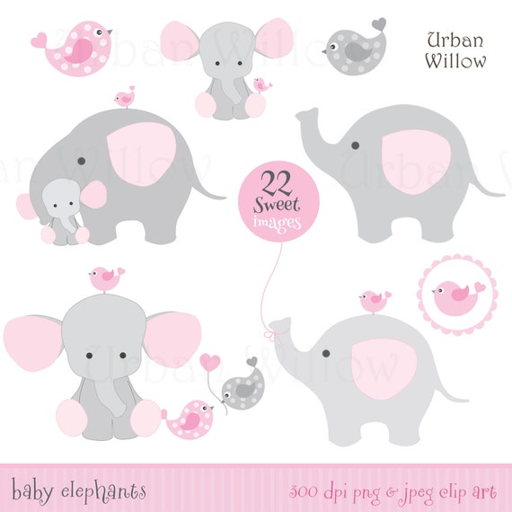 Baby Girl Elephants Elephant Clip Art Cute Elephant
