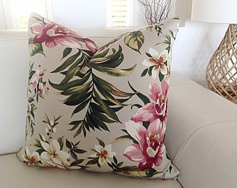 Tropical Pillows Tropical Cushions, Resort Decor, Floral, Scatter Cushions, Throw  Pillows,  Accent Cushion Designer Style Decor