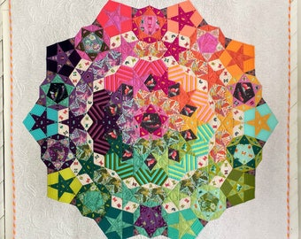 Tula Nova Quilt pattern - Hexagons,  English Paper Piecing papers and instructions - DIY - Choice of Pattern and/or template pack