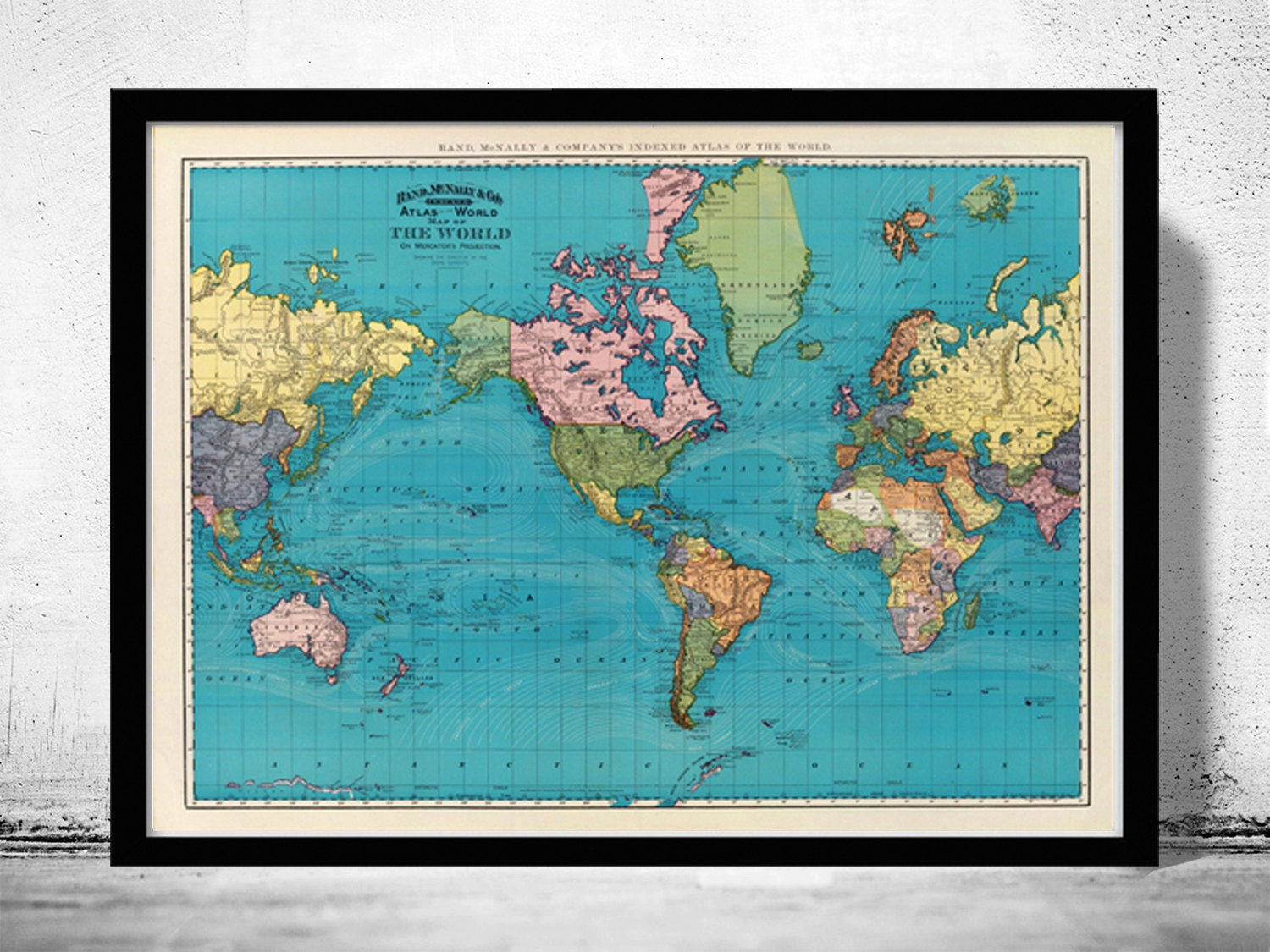Old world map atlas vintage world map 1897 mercator projection zoom gumiabroncs Images