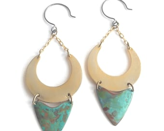 Crescent and Arrows Earrings