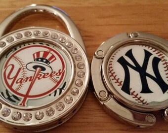 6 Styles Purse Hook New York Yankees Personalized Custom Customized Folding Handbag or Holiday Christmas Stocking Hanger Baseball Team