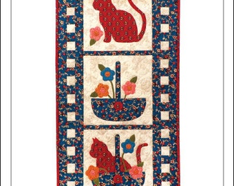 Sitting Pretty Cat Wall Quilt Pattern
