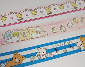 Character Deco Tape Samples