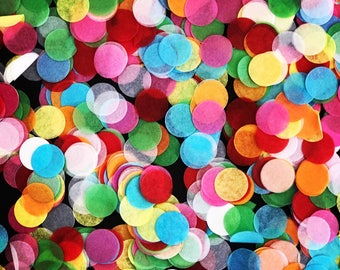 Red, Yellow, Pink, Green, Orange, Blue and White 'Hundreds & Thousands' Tissue Paper Confetti