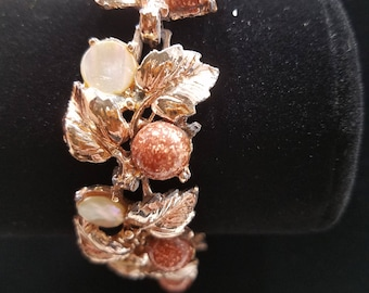 Beautiful Copper Confetti and Mother of Pearl Bracelet