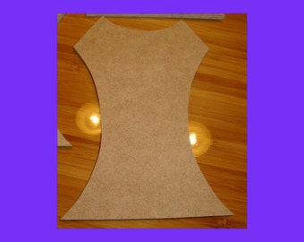 Large Unfinished Mdf Wood Lady's Dress Bodice Shape Mosaic Base Craft Shape 14 Inch