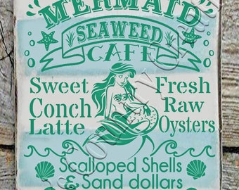 Mermaid Seaweed Cafe, Summer, SVG, PNG, JPEG