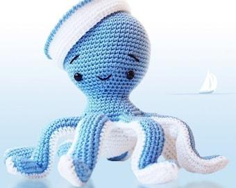 Amigurumi Crochet Octopus Patern - Sailor Octopus - Softie - Plush