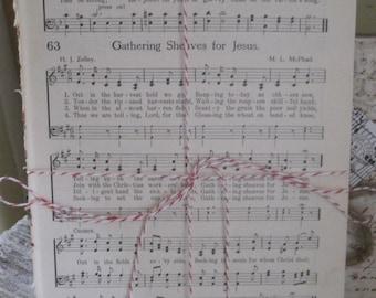 vintage hymnal sheet music bundle of 10