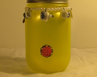 Yellow Tea set Jar