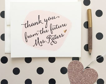 Dottie Future Mrs. Thank you Cards for the bride to be - customize to match your wedding colors and as always, FREE US shipping