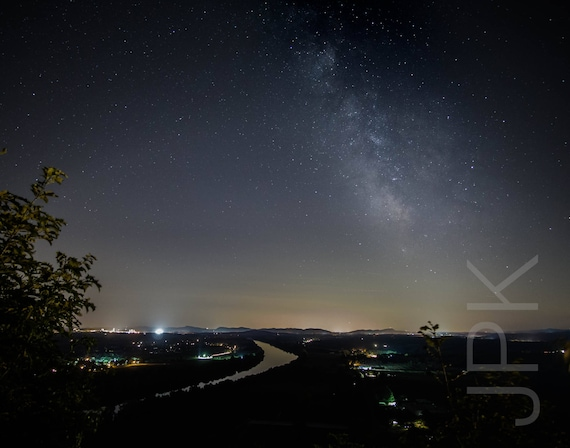 Milky Way over the Holyoke Range and Connecticut River, Pioneer Valley