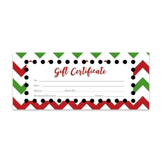 Items Similar To Chevron Christmas Gift Certificate