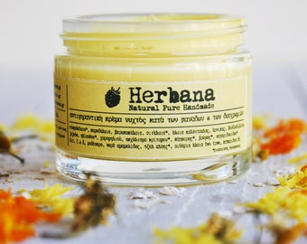Bleaching Face Cream, Against Discoloration, Freckles & Age Spots, Acne Scars, Night Cream, Anti aging, Whitening Cream by Herbana cosmetics