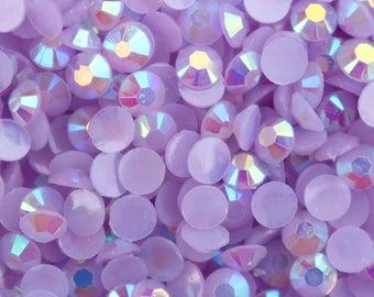 Lavender Purple AB Resin Jelly Flatback Rhinestones 5mm Nail Art (Craft Supplies & Tools)