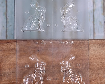 "Easter Bunny Candy Mold, 3"" Easter Rabbit Candy Molds, 3d Bunny Chocolate Molds, Rabbit Chocolate Molds, Rabbit Moulds, Candy Making"