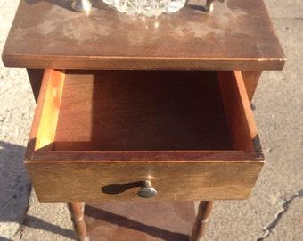 Antique 1950s Cushman smoking table