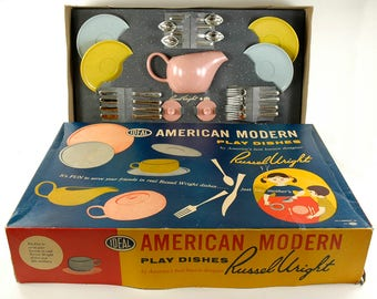 Ideal Russel Wright American Modern Play Dishes Tea Set complete in box : russel wright american modern dinnerware - pezcame.com