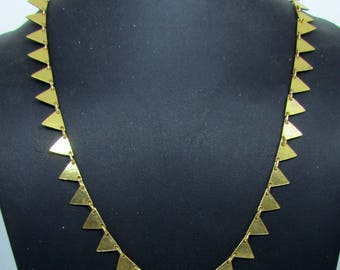 Antique triangle 925 Silver Necklace Filigree Necklace Handmade Jewelry