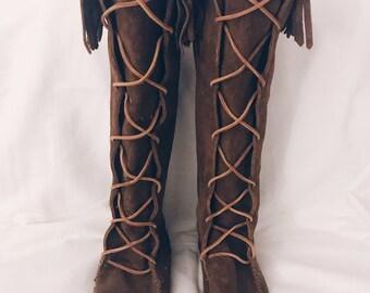 Brown- Minnetonka Lace-Up Boot