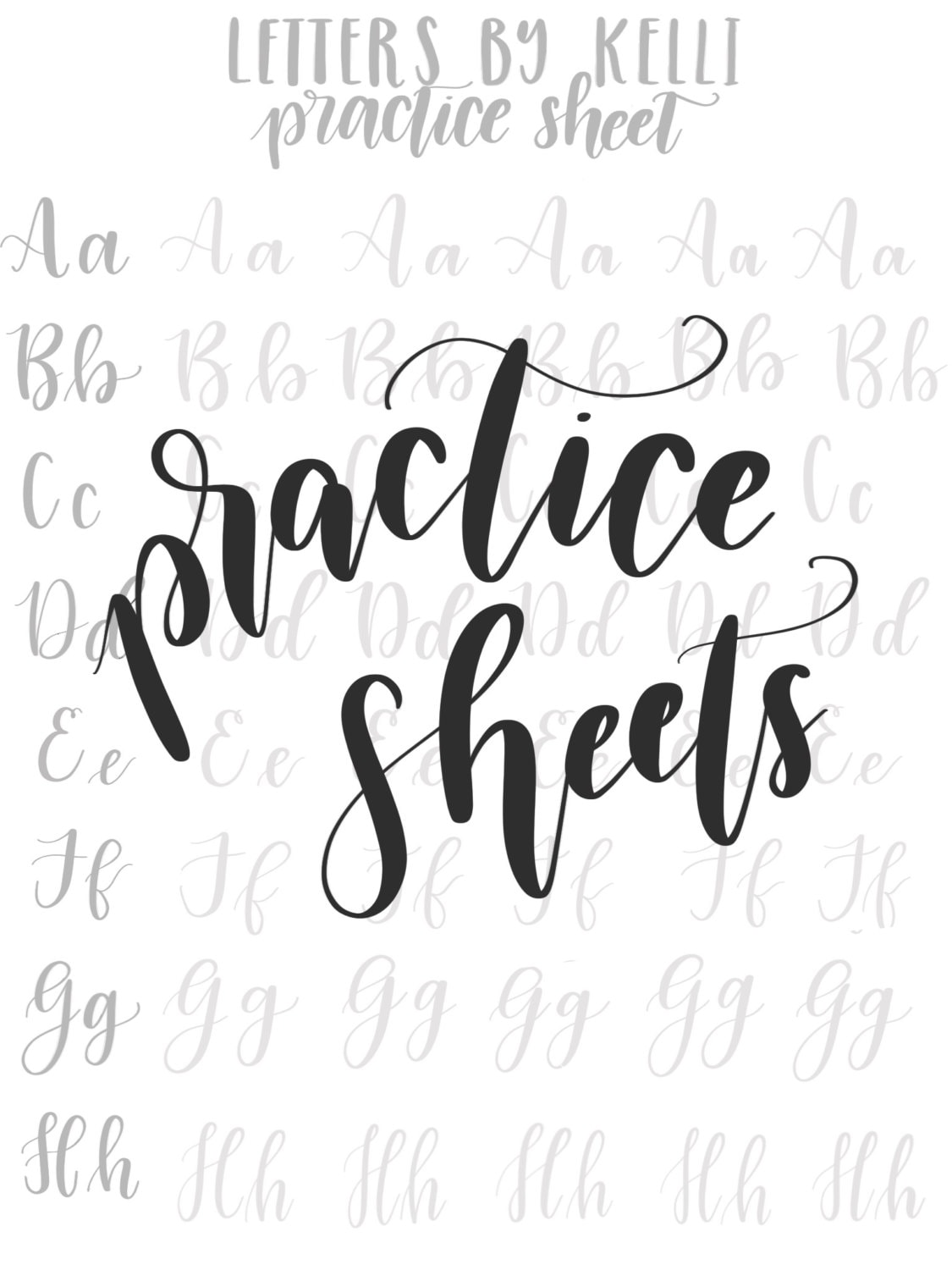It's just an image of Smart Printable Hand Lettering Practice Sheets