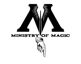 Ministry of Magic decal, Bathroom decal, toilet decal