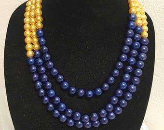 Triple Strand Royalty Necklace