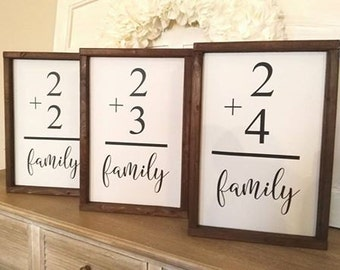 Family Flash Card Sign - flashcard sign - gallery wall sign - family sign