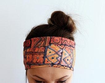 Ethnic Boho Headband women gift for her Headband Workout headband Running Fitness Headband Yoga Headband Print Headbands Cyber Monday Y48