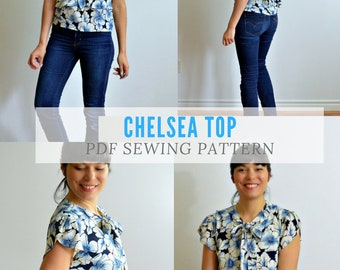 The Chelsea Top PDF sewing pattern and sewing tutorial