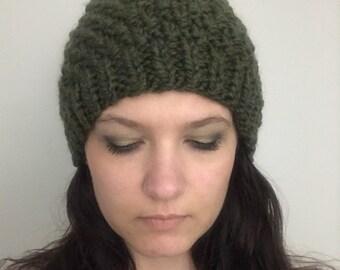 Irish Moss Green Knit Hat