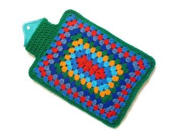 Hot water bottle cover crochet hot water bottle cosy crochet hottie bed warmer hot water bottle case hottie case