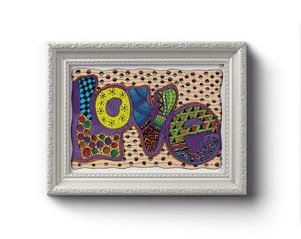 Love Art Print - Jennifer Reid