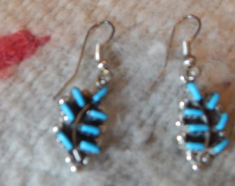 petit point, turquoise earrings, womens earrings, southwestern, western, Texas, sterling turquoise, gift, horse, tribal, New Mexico, silver