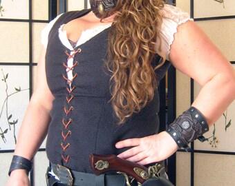 Pirate Captain BlackBeard Flintlock Guns Leather Holsters
