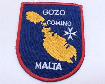 Vintage 1970s era Gozo Comino Malta Fabric Sew on Patch