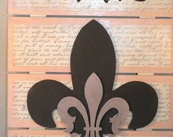 Fleur De Lis Wall Hanging , Fleur De Lis Wall Decor