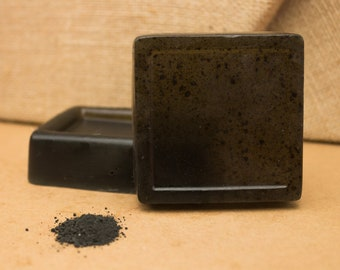 the NOIR for him Soap Detergent free / activated charcoal / hemp / macho / men's fragrance / handmade