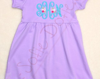 Girl's Dress with Monogram