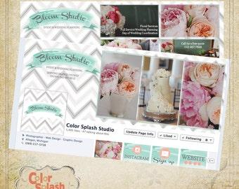 INSTANT DOWNLOAD - Facebook Template - Facebook Cover - Photography Facebook - Facebook Banner Collage