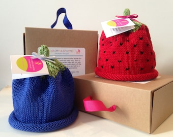 Blueberry and Strawberry Colorful Crown