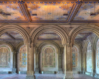 Minton Tiles at Bethesda Terrace, Central Park, New York Fine Art Photograph, Wall Decor