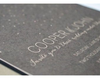 Starry Night Wedding Invitations - Simple and Elegant Wedding Invite - Star Wedding Invitations