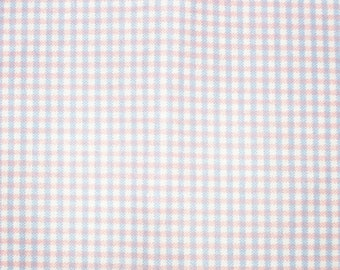 Pink and Blue Mini Check Fabric